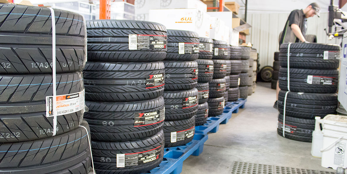 Projects in the shop: We're preparing for a large number of 6UL wheel/tire packages.