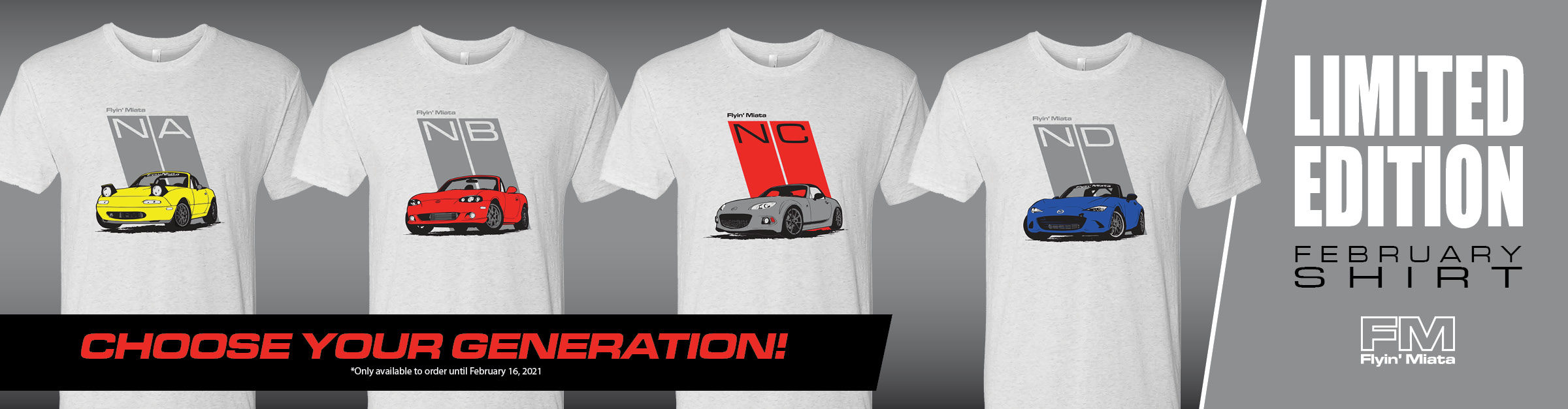 NEW! Exclusive Limited Edition February Shirt!