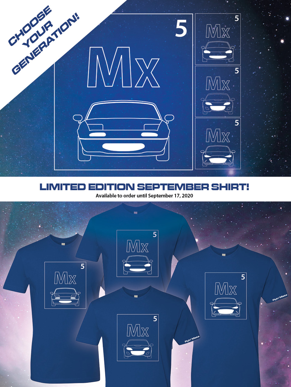 Limited Edition! Exclusive to Flyin' Miata!
