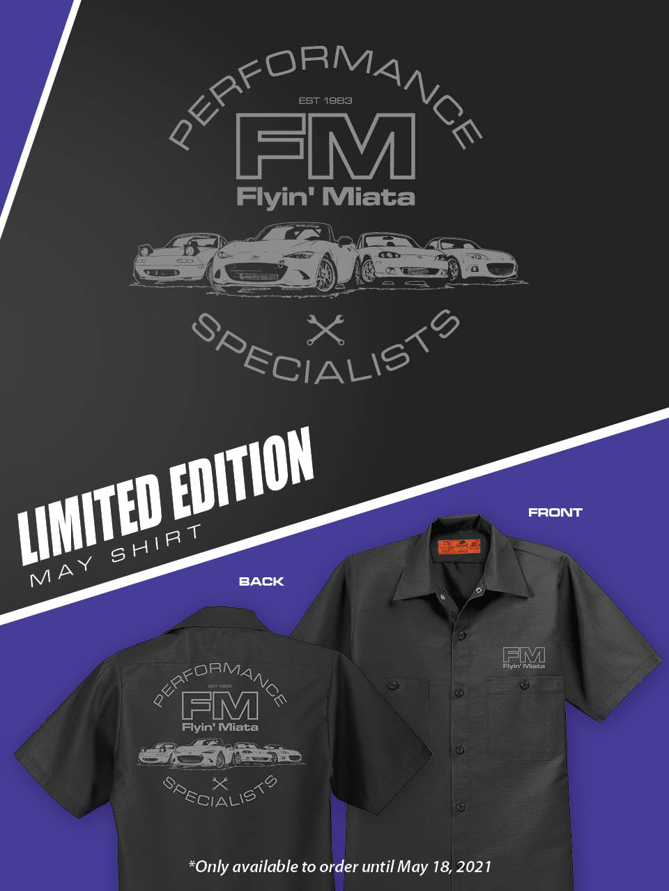 NEW! FM Exclusive Limited Edition May Shirt!