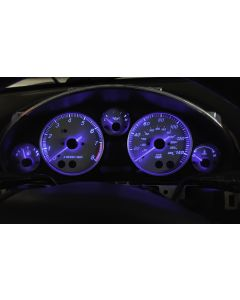 Full Blue NA-NB LED gauge light kit Installed