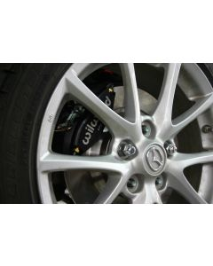 "The brakes fit behind stock 17"" wheels. We do recommend the use of all five lug nuts."