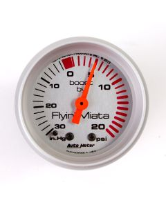 Silver face 20 psi gauge